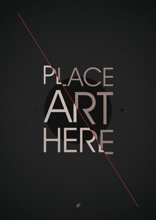 The Art Placeholder - Typographic Poster Design