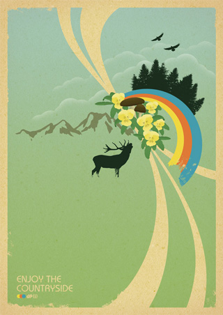 Enjoy The Countryside - Retro Poster Design